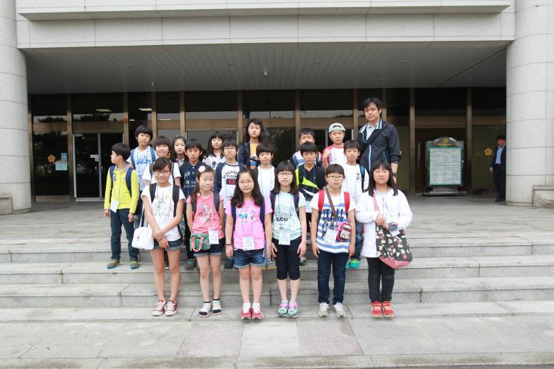 화산초등학교 학생 의회 견학 방문