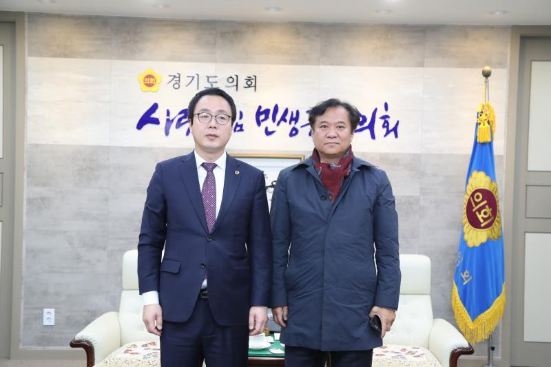 김용 더불어민주당 화성갑위원장 접견