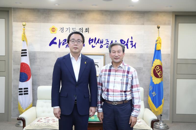 정기열의장 전도현 더민주 도시농업발전특위 부위원장 접견