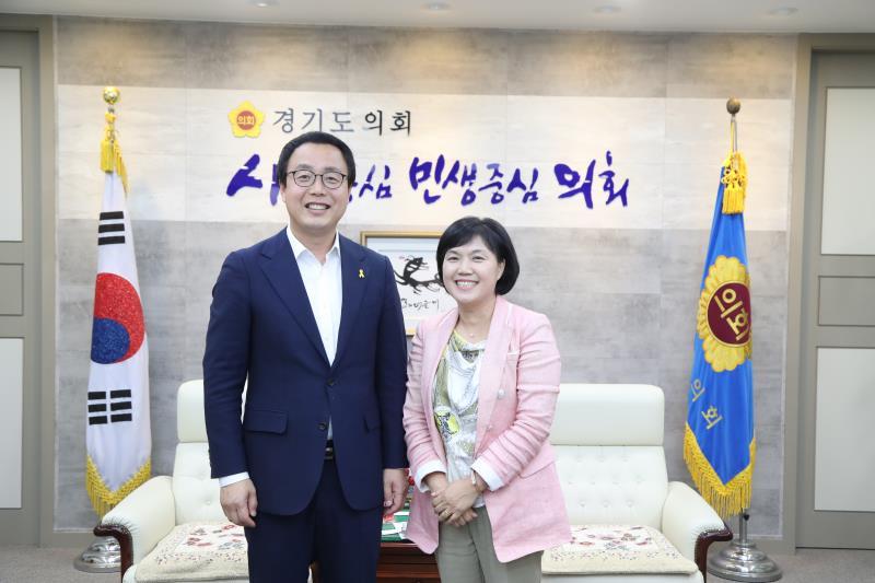 정기열의장 경기도어린이집 연합회 심원진 접견