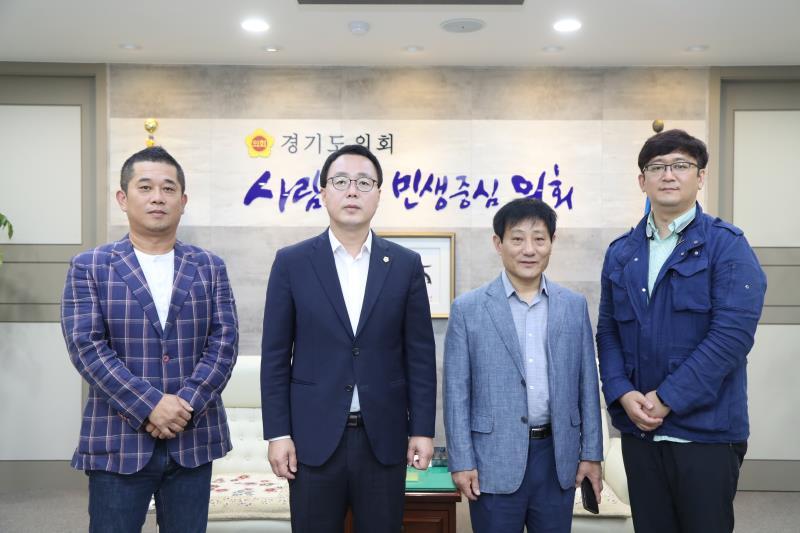 정기열의장 공동대표 진락천,사무국장 주태규 님 접견