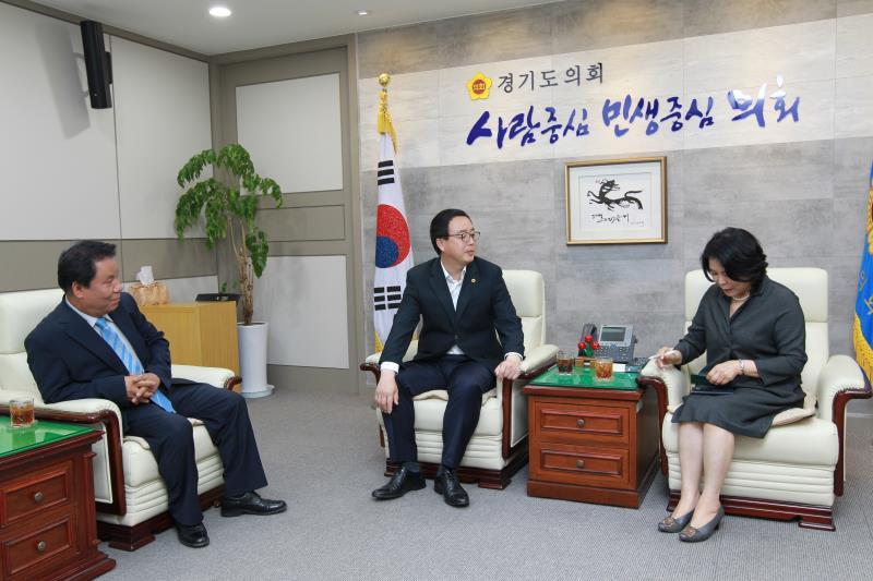 정기열의장 안양 광역신문 장성환대표 접견