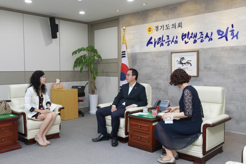 정기열의장 김진애부장 일행 접견