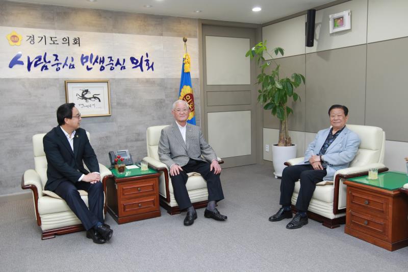 정기열의장 아시아글로브 한연수 국장 일행 접견
