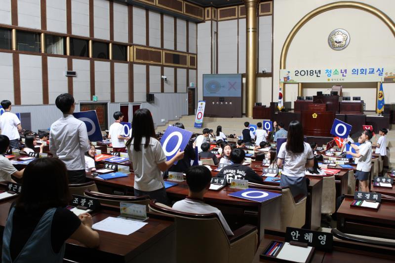 2018년 제15회 청소년 의회교실