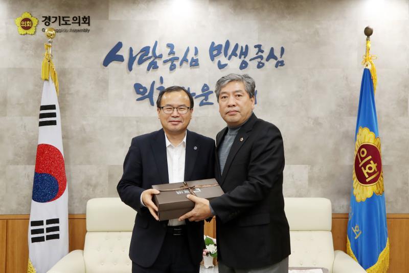 한국 자유총연맹 경기도지부 홍희성 회장 등 접견