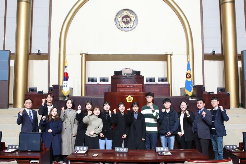 용인시 대학생 정책자문단 경기도의회 방문
