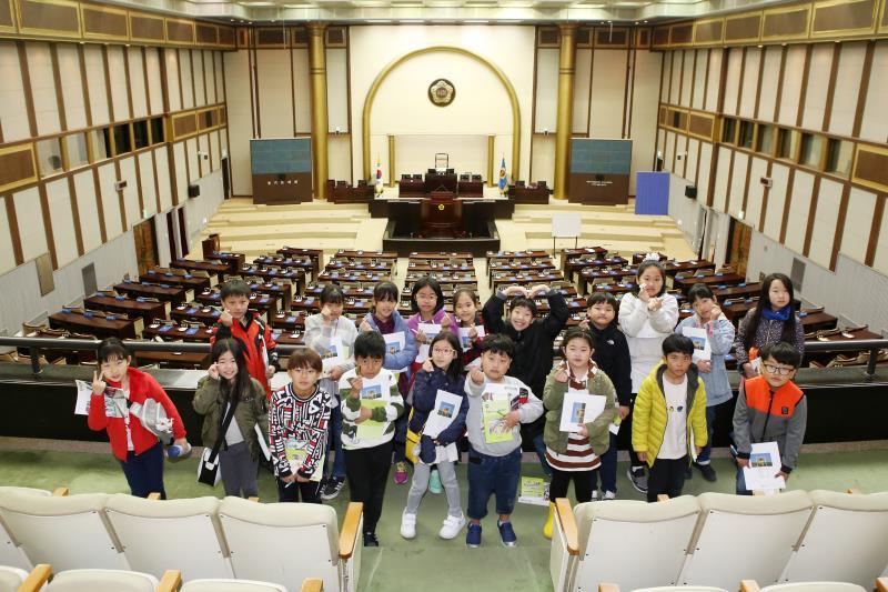 수원 남창초등학교 도의회 견학
