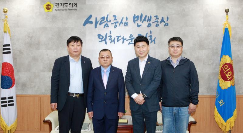 김원기 부의장 중국 사천성 경제문화교류 방문단 접견