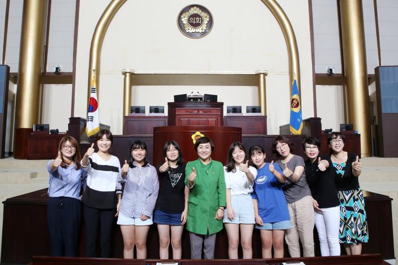 안혜영 부의장 망포중학교 학생 및 학부모 도의회 방문 접견