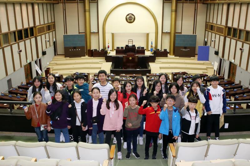 수원 명당초등학교 경기도의회 방문 견학