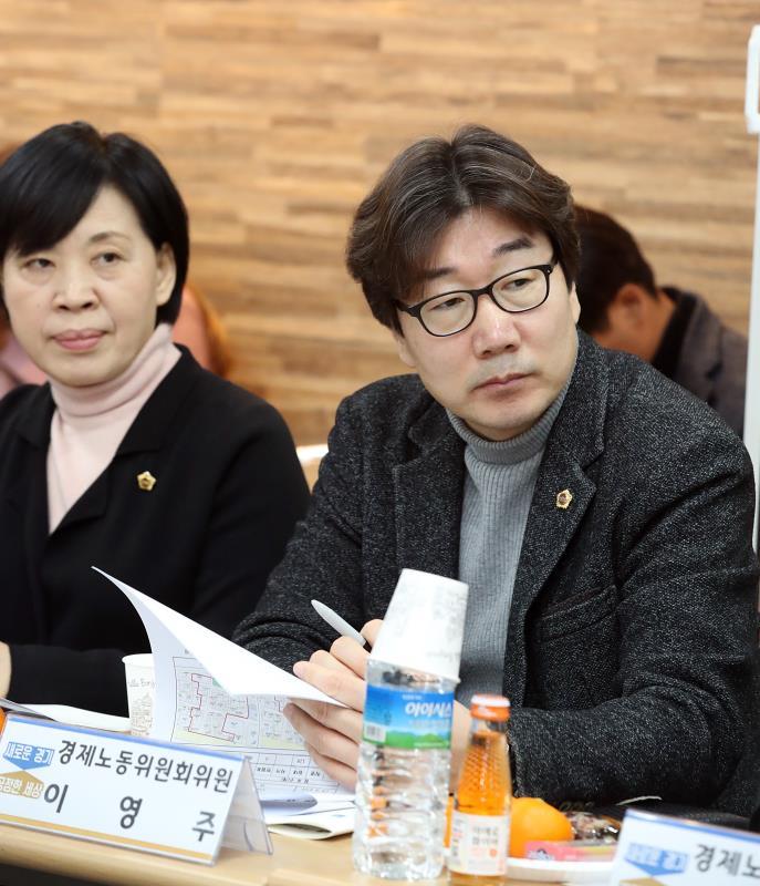 경제노동위원회 이천 관고시장 활성화 간담회 및 장보기