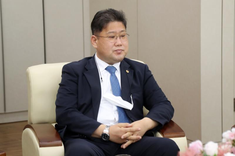 교섭단체 더불어민주당 대표단 도내 언론사 방문