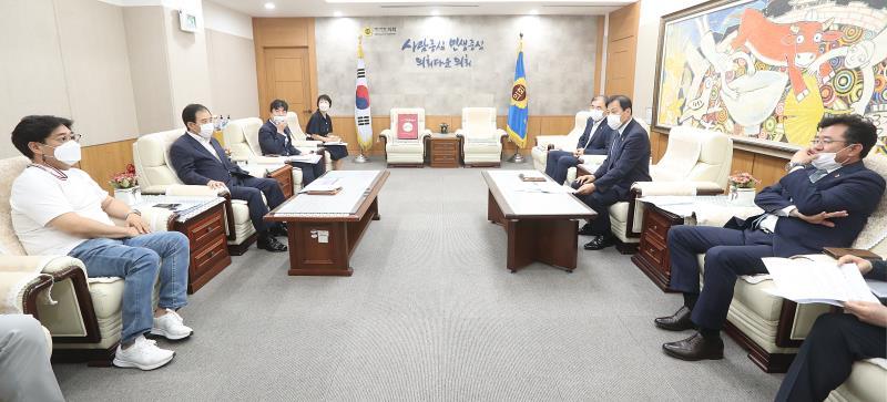 장현국 의장님 포천박윤국 시장님 접견