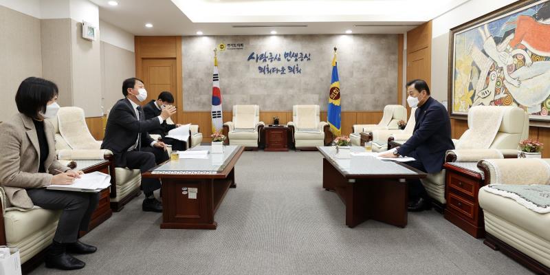 장현국 의장 서명철 국민건강보험공단 인천경기지역 본부장 등 접견