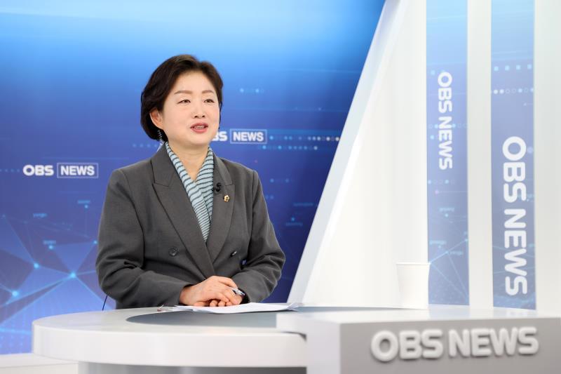 문경희 부의장 OBS 경인TV 비대면 생방송 출연 스케치