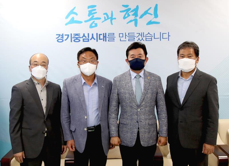 경기도의회 더불어민주당 박근철 대표의원 평택대학교 교수 접견