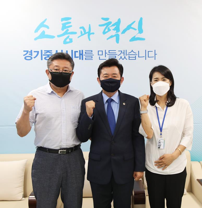 경기도의회 더불어민주당 박근철대표 의왕시장애인 체육회 관계자 접견