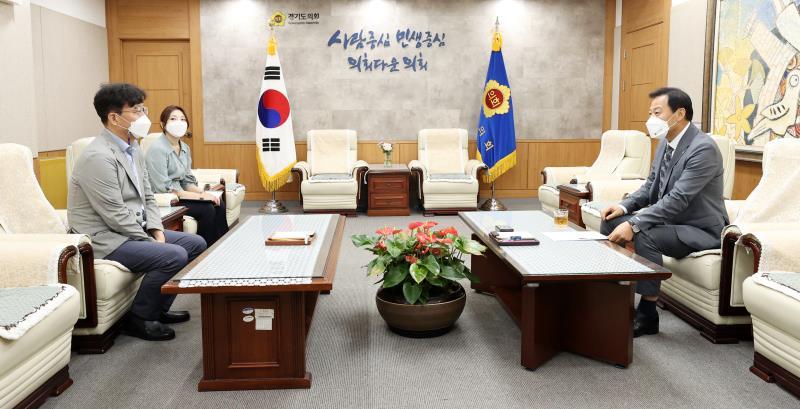 장현국 의장 인천일보 홍성수 편집국장 접견