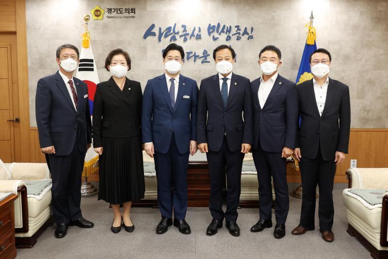 의장단 신임 오병권 행정1부지사 접견