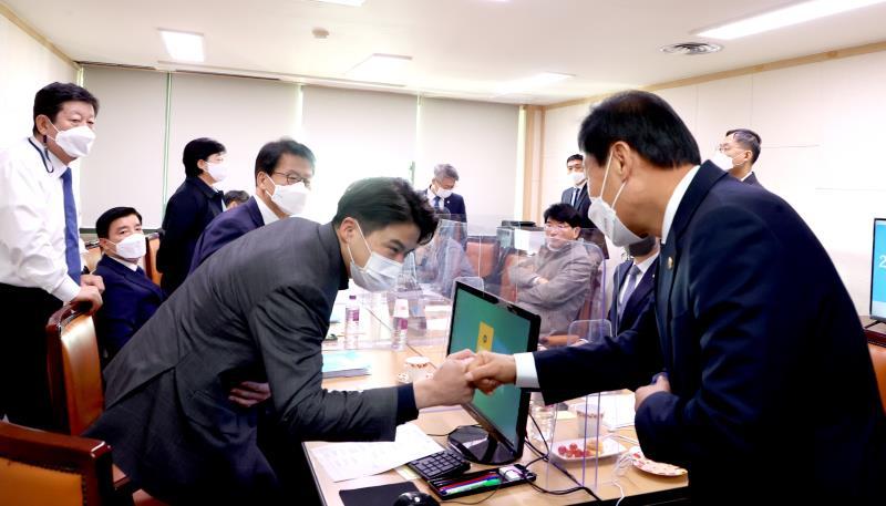 경기도 국정감사 위원(행안위)영접